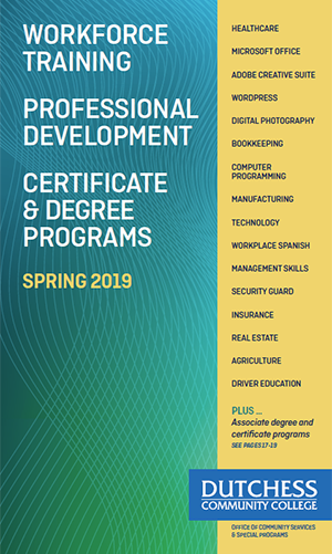 Continuing Ed Brochure Cover Spring 2019