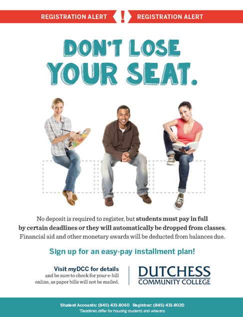 Don't Lose Your Seat - New Registration Guidelines
