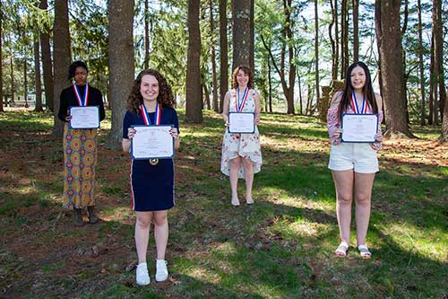 Abigail Daramalo, Sydney McKay, Clara Rodriguez and Nicole Schubert were recognized in a virtual ceremony on April 22.