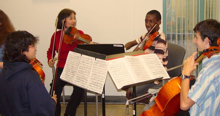image of chamber music students